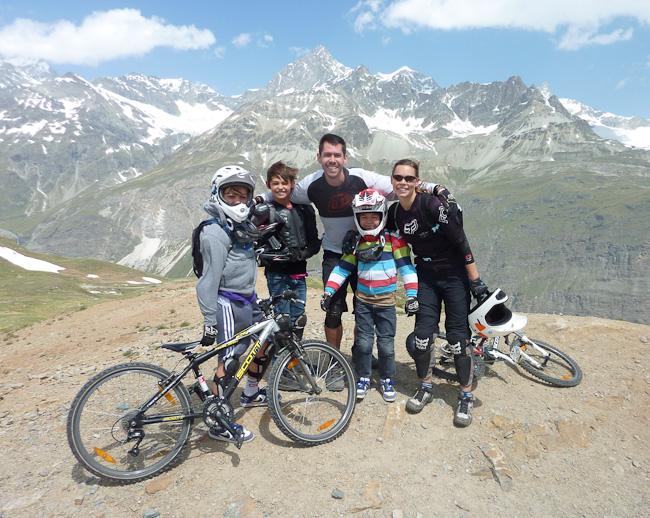 Summer vacation, mountain biking in Switzerland